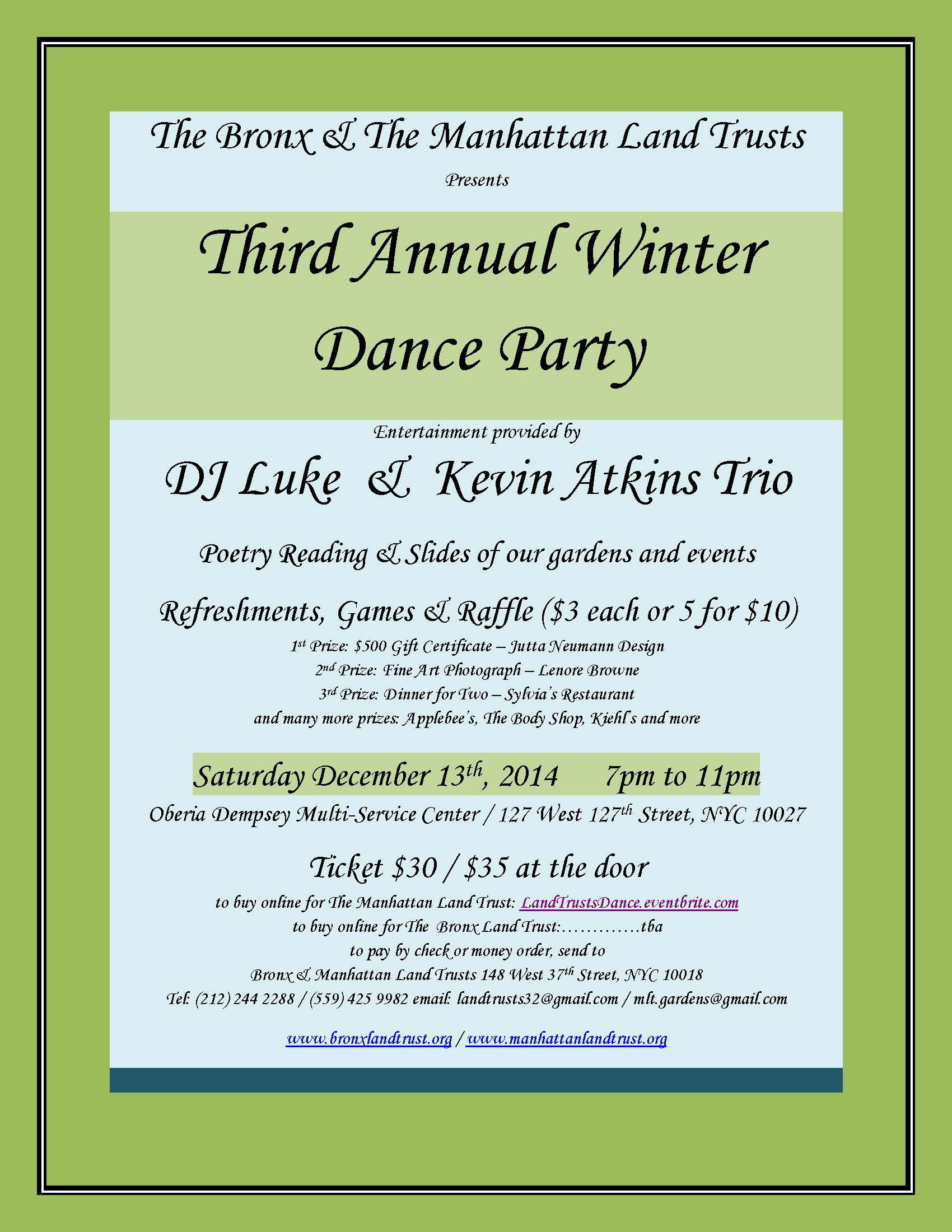 MLT & BLT 2014 Winter Dance Party December 13th