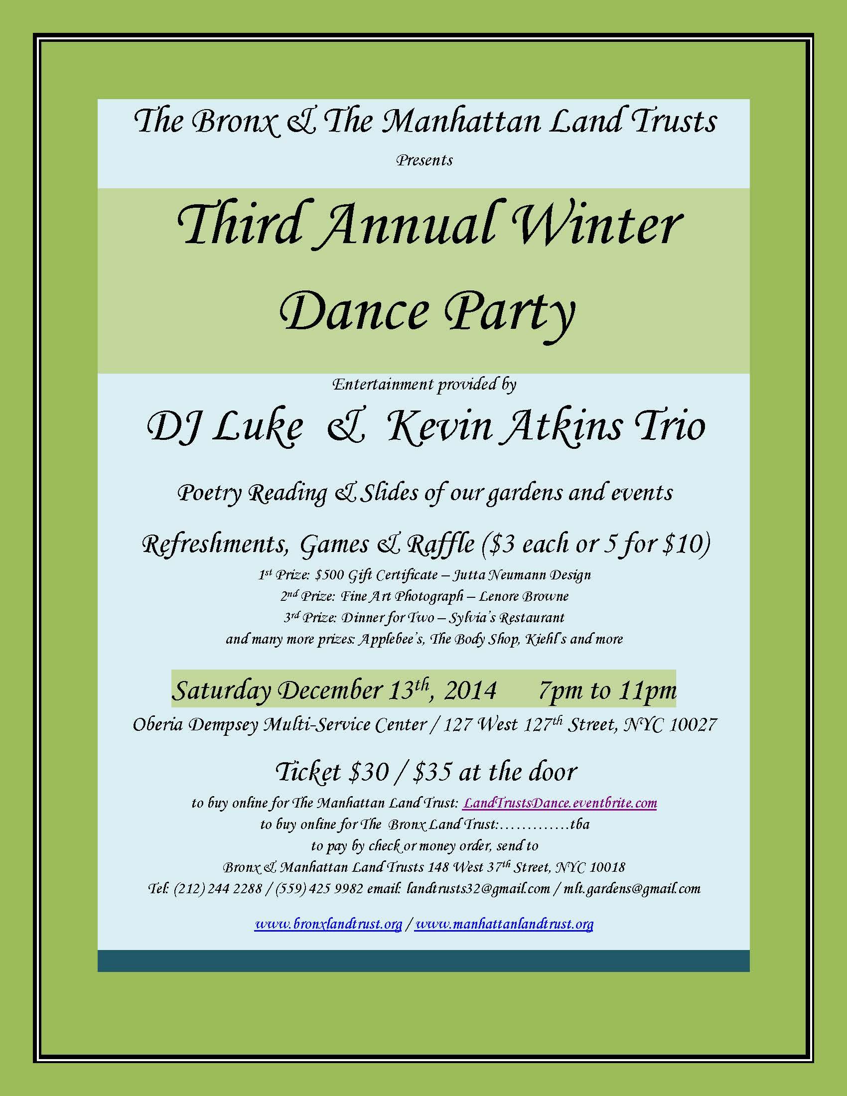 MLT & BLT 2014 Winter Dance Party December 13th