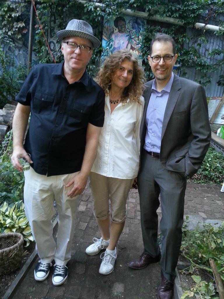 Steve Frillmann (Green Guerillas), Amit Bushtein and Council Member Mark Levine