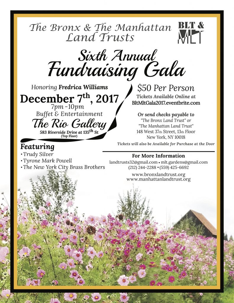 BLT & MLT 2017 Sixth Annual Fundraising Gala December 7th