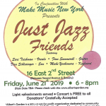 poster for just jazz friends event in alberts garden