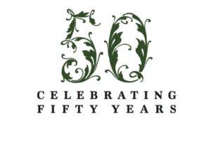 Stylized number 50 celebrating 50 years